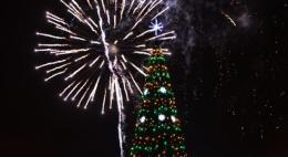 Лучше всего новогодний салют в Пскове будет видно с Октябрьской площади