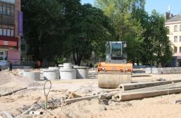 Улица Яна Фабрициуса будет готова к началу октября