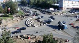 Реконструкция перекрестка по Яна Фабрициуса и Гражданской завершится до конца года