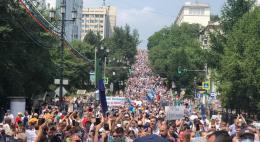 45% россиян поддерживают протесты в Хабаровском крае