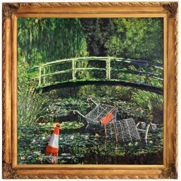 Картину британского уличного художника Бэнкси продали на аукционе за 10 млн долларов