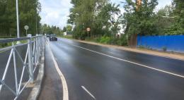 Дорогу и тротуары в деревне Писковичи в Псковском районе отремонтировали по нацпроекту