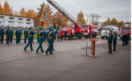 В Пскове прошла церемония прощания со знаменем МЧС России генерал-майора внутренней службы Валерия Филимонова