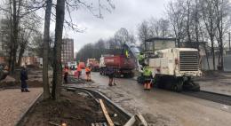 На объекте нацпроекта - улице Бастионной в Пскове - завершено фрезерование покрытия