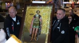 Участники патриотического пробега «Невский путь» прибыли в Псков с иконой князя Александра Невского