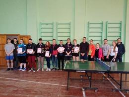 Псковичи одержали победу в областной спартакиаде по настольному теннису