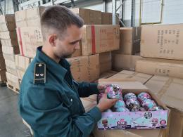 Партию игрушек задержали на границе в Псковской области