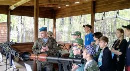 Военно-патриотическая эстафета прошла в Пушкиногорском районе