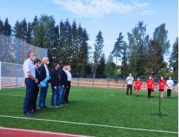 Андрей Турчак принял участие в открытии стадиона в п. Струги Красные