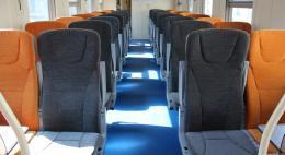 В пригородных поездах «Псков - Дно» и «Дно - Оредеж» новые комфортабельные вагоны