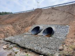 Водопропускная труба на дороге Шапинка – Мухарево в Дедовичском районе капитально отремонтирована
