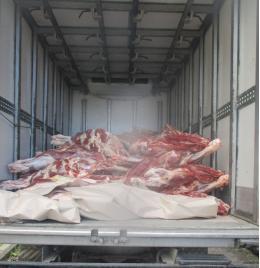 Две тонны говядины не доехали до Санкт-Петербурга
